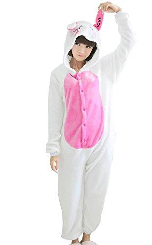 Betusline Cute Sleepsuit Costume Cosplay Homewear Pattern Onesie Pajamas White Rabbit