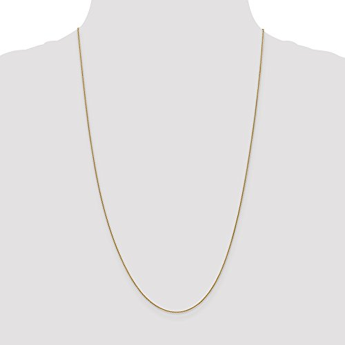 ICE CARATS 14k Yellow Gold .8mm Baby Spiga Link Wheat Chain Necklace 18 Inch Fine Jewelry Gift Set For Women Heart by ICE CARATS (Image #5)