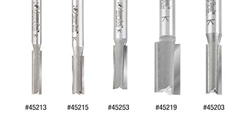 Amana Tool 45213 Carbide Tipped Straight Plunge 6mm Dia x 25mm x 6mm Shank