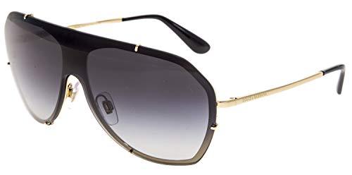 - Dolce & Gabbana Authentic Sunglasses DG2162 Black Gold w/Grey Gradient Lens 028G DG 2162 (137mm)