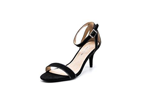 Dolce Nome Womens Natasha Heeled Sandal Black 38 ()