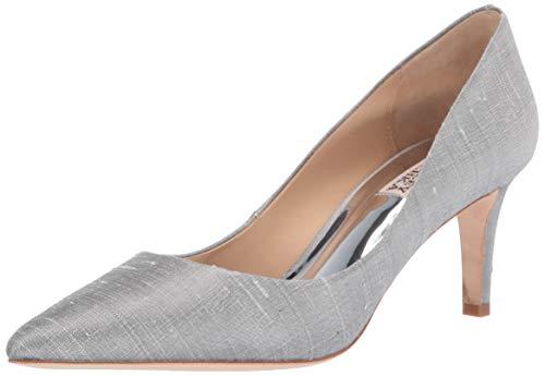 - Badgley Mischka Women's Lana Pump, Silver Silk, 8.5 M US