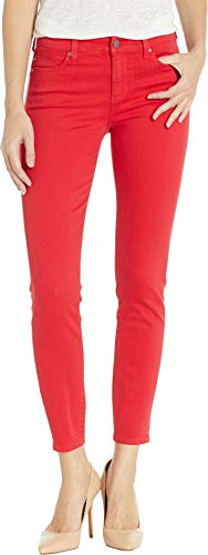 Liverpool Women's Piper Hugger Ankle Skinny Jeans in Lipstick Red Lipstick Red 10 28