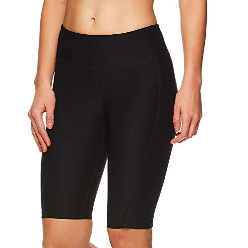 Reebok Women's Compression Running Shorts - High Waisted Performance Workout Short - Quick Training Short Black, Medium