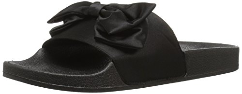 Slipper Qupid Booboo Black 38 Satin Women's tq6wPUqx4p