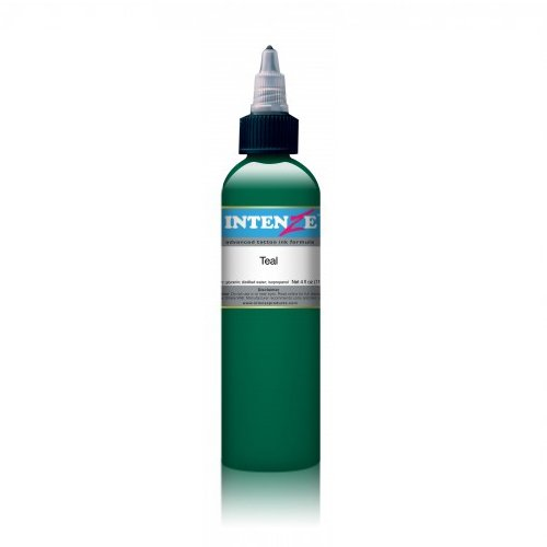 Authentic Intenze Tattoo Ink 1oz bottles in Color of your choice Made in USA (Teal) -  INK-3050