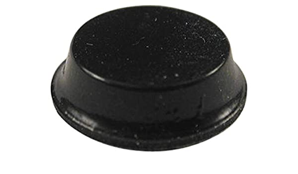 Round 3.5 mm Stick On Bumper // Feet Black Adhesive Rubber 1421 S Pack 24
