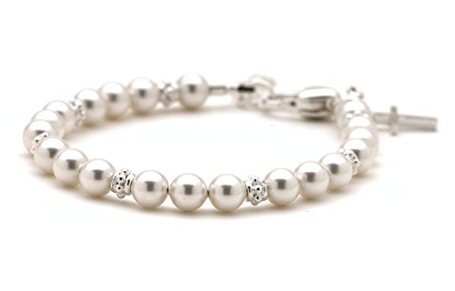 Cultured Freshwater Pearl Baby Bracelet Christening Gift (Christening Pearl)