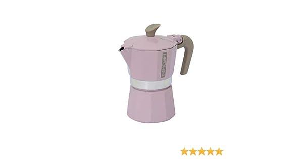 Pedrini Mymoka - Cafetera de aluminio 3 tazze Powder Pink: Amazon ...