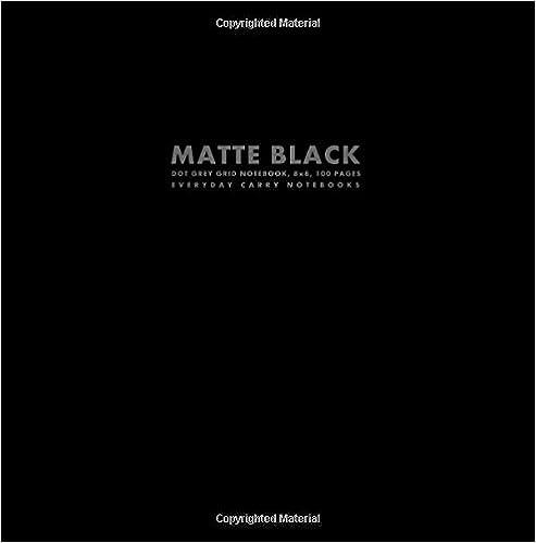 Descargas de libros de bud epub Matte Black Dot Grey Grid Notebook