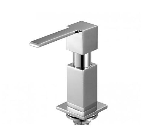 Dispensador de jabón liquido para fregadero Mizzo Perla - de acero inoxidable brillante - dosificador de detergente - cocina/baño - 300ml: Amazon.es: Hogar