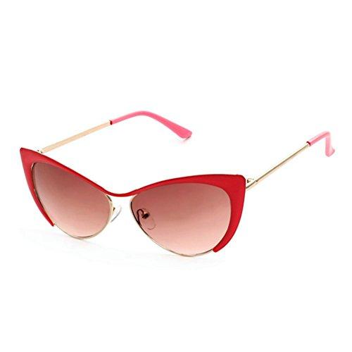HaiBote Miss Jin Zhu Cat Eye Sunglasses UV Protection Glasses - Best Face Eyeglass Shape Oblong For