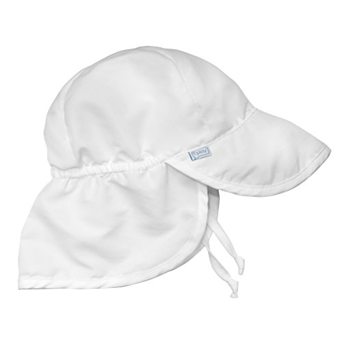 i play. Baby Flap Sun Protection Swim Hat, White, 9-18 Months (Baby And Infant)