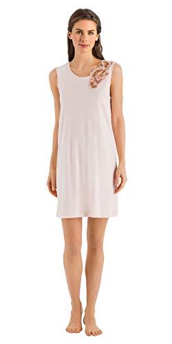 (HANRO Women's Jana Tank Gown, Pearl Blush Large)