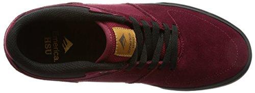 Emerica Men's The HSU Low Vulc Skateboarding Shoes, Black, 8.5 UK Burgundy