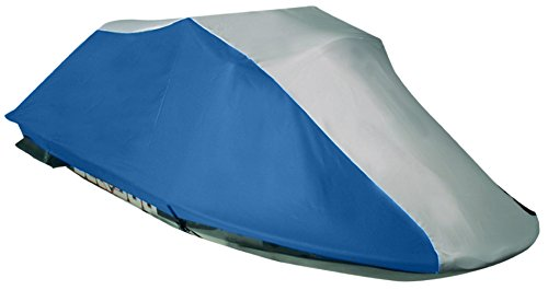 Leader Accessories 600D Polyester Ready Fit Jet Ski PWC Cover Kawasaki (STX 12F 2003 2004 2005 2006 2007;STX 15F 2004 2005 2006 2007 2008 2009) Grey/Navy Blue