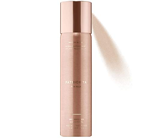 (Patrick Ta Major Glow Highlighting Mist 1.6 Oz! Shimmer Pearl Highlighter Spray for Face and Body! Nourish the Skin, Glossy Shine and Long Lasting Wear! (Gold Pearl))