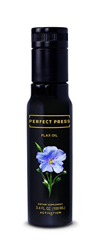Perfect Press, Flaxseed Oil Cold Pressed, Organic & Vegan. Great Taste. Essential Omega 3 for Healthy Joints, Hair, Skin, and Nails. (Oil 1300 Mg 60 Gel)