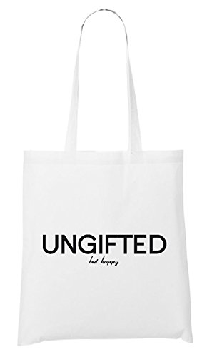 Ungifted But Happy Bag White h2PiwjOZ