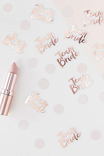 Ginger Ray TB-631 Rose Gold Foiled Team Bride Table Scatter Confetti
