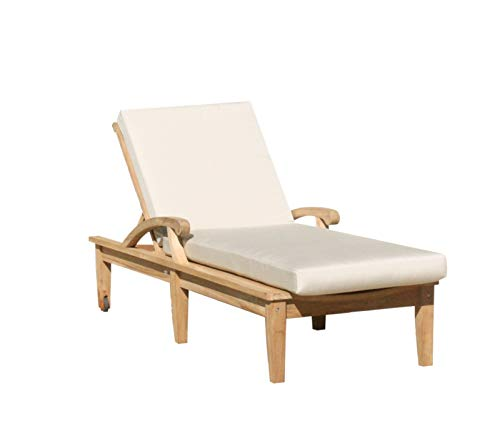 Outdoor Steamer Lounger - TeakStation Made from A-Grade Teak Wood ND Multi Position Sun Chaise Lounger Steamer with Tray (Furniture only) #33CLND