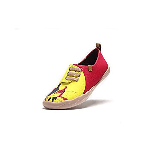 9e6ee4d87eac3 UIN Women s UIN Surf Printed Canvas Shoes Yellow Red on sale ...