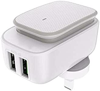 Dual USB Port Home Charger, USB 2.0 Port, Compatible With IOS Android and Other Digital Devices