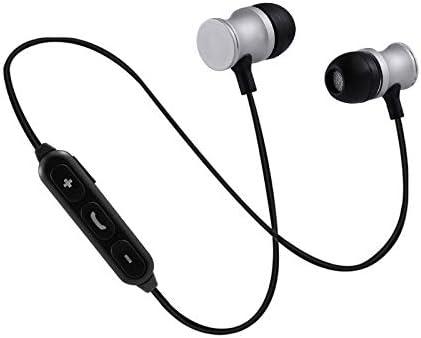 Auriculares Bluetooth de Metal para Sony Xperia L3 Smartphone inalámbricos con Mando a Distancia y Sonido Manos Libres intraurales universales, Color Plateado