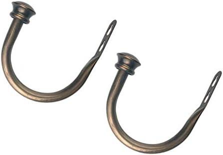F Fityle 1 Pair U-Shape Tube Curtain Tieback Hooks European Style Clothes Hanger Cage/_Black