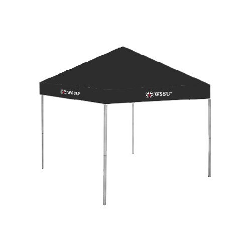 Winston Salem 9 ft x 9 ft Black Tent 'Ram WSSU' by CollegeFanGear