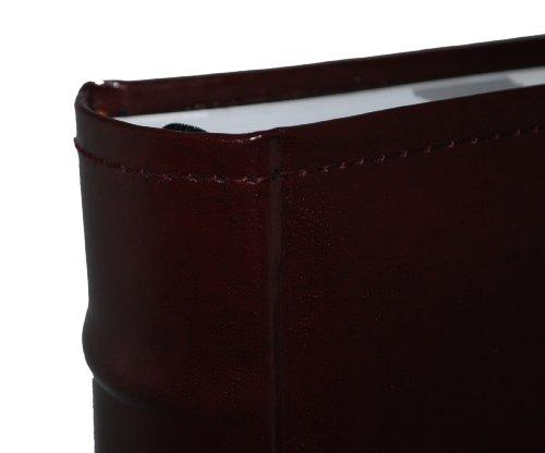 European Leather Photo Album Holds 300 4x6 Photos Archival Quality Burgundy Pioneer