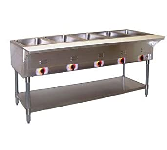 APW Wyott SST-5 Stationary Electric Champion Hot Well Steam Table