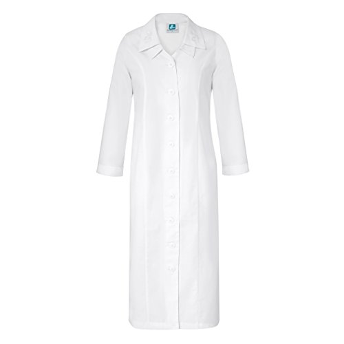 Adar Universal Double Embroidered Collar Dress - 2801 - White - 18 by ADAR UNIFORMS