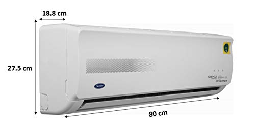 Carrier 1 Ton 5 Star Inverter Split AC (Copper, PM 2.5 Filter, 2019 Model, ESKO NEO HYBRIDJET INV R32CAI12EK5R39F0 White…