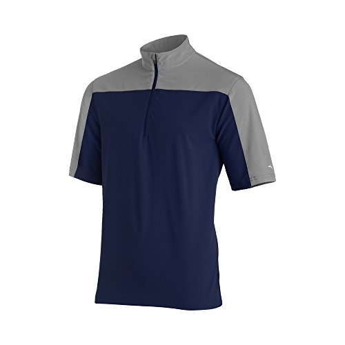 Mizuno Comp Short sleeve Batting Jacket, Navy/Grey, XX-Large