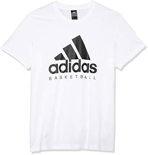 Homme À Blanc De shirt Courtes Manches Basketball Pour Adidas Graphic T noir Xn6OznZf