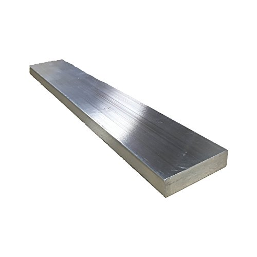 Remington Industries 1.0X2.0FLT6061T6511-8 1'' x 2'' Aluminum Flat Bar, 6061 General Purpose Plate, 8'' Length, T6511 Mill Stock, Extruded, 1.0'' Diameter by Remington Industries