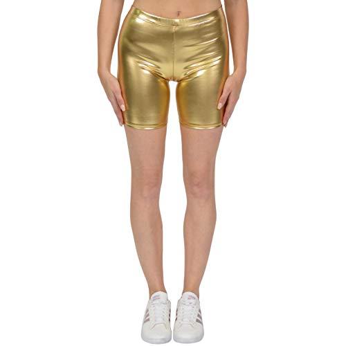 Stretch is Comfort Women's Bike Shorts Metallic Gold Small
