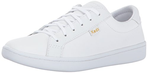 Keds Girls' Ace Sneaker, White Leather, 11.5 Medium US Little Kid