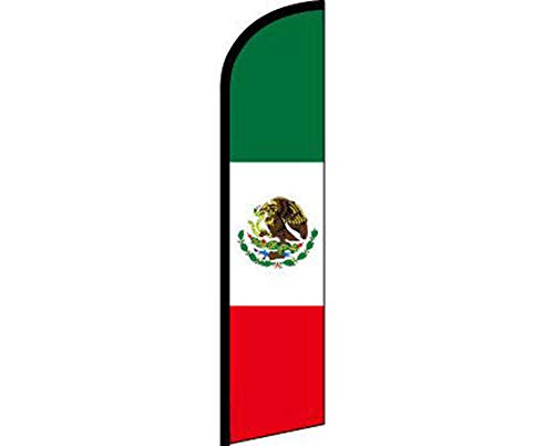 ALBATROS Mexico Country Red White Green Windless Banner Advertising Marketing Flag for Home and Parades, Official Party, All Weather Indoors Outdoors