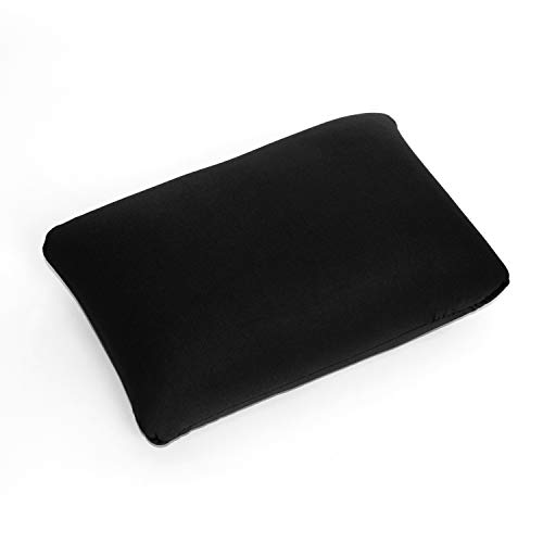 Cushie Pillows 13.5 inches x 10 inches Microbead Squishy/Flexible/Comfortable Rectangle Pillow - Black (Bean Bag Filled Pillows)