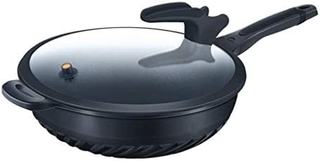 MHTCJ 蓋国内禁煙のパンキッチン調理器具中華鍋蓋で蓋、ノンスティックフライパンとフライパン (Size : 32cm)