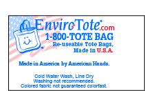 Set of 25 10oz Cotton Canvas Shoulder Tote Bags - Reusable Made in USA (Natural) by Enviro-Tote (Image #4)