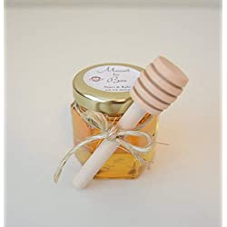 12 SET Personalized honey Favors- Meant to bee- mini mason jar favor, Rustic wedding favor, Grade A Clover Honey Favor