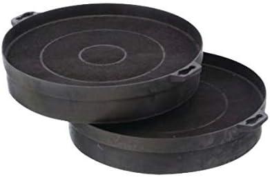 2 filtros de carbón activo diámetro 200 x 210 mm redondo para campanas extractoras Bosch Siemens Neff no.: 353121: Amazon.es: Grandes electrodomésticos