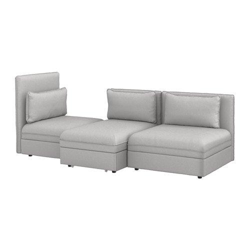 Ikea 3-seat Sleeper sectional, Orrsta light gray 16204.142920.1838