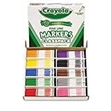 ** Non-Washable Classpack Markers, Fine Point, Ten Assorted Colors, 200/Box **