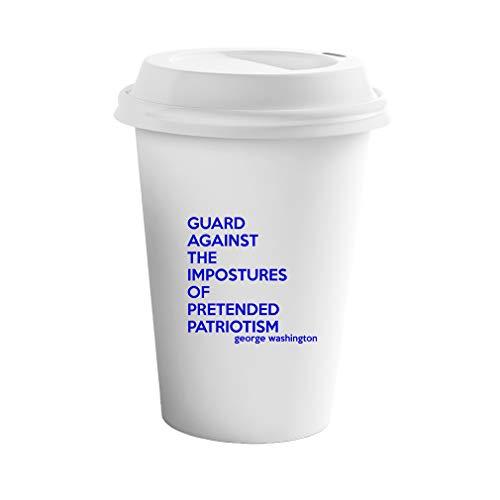 Style In Print Royal Blue Guard Against The Impostures of Pretended Patriotism Ceramic Coffee Tumbler Travel Mug