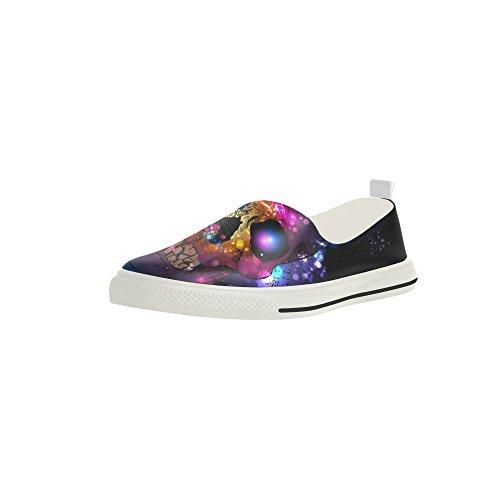 D-story Teschio Personalizzato Con Muta Slip-on In Microfibra Mens Scarpe Sneaker