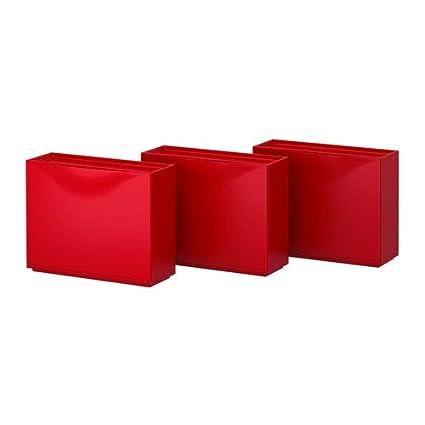 Ikea Trones Schuhschrank Lager Rot 3 Stuck 51x39 Cm Amazon De